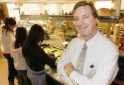 'Students have off-the-wall schedules and may not get a chance to eat until three in the afternoon,' Food Service Director David Binkle said about his motivation to change the dining halls old tradition of closing between meals.