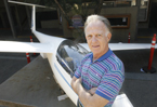 'The most beautiful sights are above us. I want to preserve the beauty of the clouds and show everyone the most extraordinary art nature itself is creating,' Gallagher, pictured above with his ASW 20 –– BL racing glider, said about his sculptures that compose his graduate show 'Realm of Flight' in the Phoebe Conley Gallery.