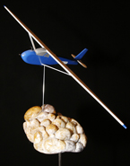 'Last Flight,' made out of alabaster and balsa wood.