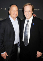 'The problem is there is a plethora of Brads in this busniess,' Brad Lewis (left) joked about sharing his name with other Brads in the business, such as 'Ratatouille' director Brad Bird (right).