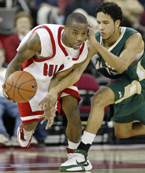 Senior point guard Kevin Bell scored 19 points and had nine assists against Cal Poly in Saturday night's BracketBuster game at the Save Mart Center.