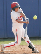 Jenna Cervantez went 1 for 3 with a run scored in yesterday's game against UNLV in the Palms Springs Classic in Cathedral City. The Bulldogs will face Ohio State and Texas today.