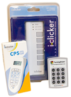 There are several models of clickers on sale at the Kennel Bookstore, including E-Instruction's CPS. Burgess said about a dozen classes on campus are currently using clickers.