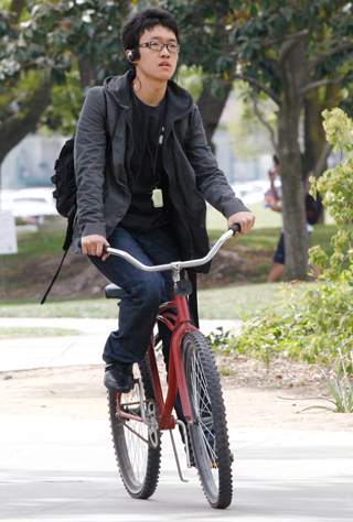 Wonwook Choi, an exchange student from South Korea and a junior business marketing major, said the reason he rides a bike is convenience. Choi lives in the dorms and said that having a bike allows him to get from place to place more easily than any other mode of transportation.