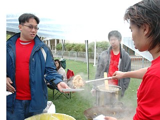 The Lion Dance Club served pan fried noodles at last year's Vintage Days. The club is not on this year's list of participating vendors. Leadership Development and Activities adviser Josh Edrington said that new regulations may make it harder on organizations trying to sell food.