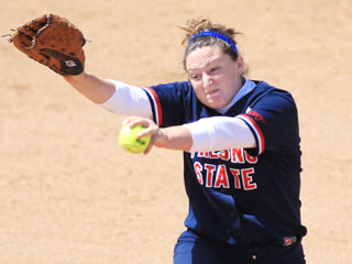 Freshman pitcher Morgan Melloh earned her 24th win on Saturday in the Bulldogs' only win over Nevada. Melloh had seven strikeouts and allowed no runs on six hits.