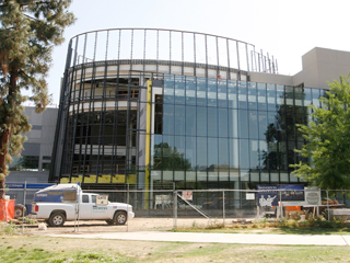 Construction on the new Henry Madden Library is expected to be completed in January 2009. Study space in the south wing will become a construction zone starting May 19.