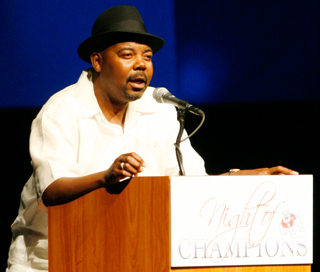 Former Bulldog Tyrone Bradley from the 1983 NIT championship team was the keynote speaker at the Night of Champions event Monday night.