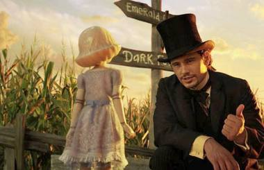 "James Franco as Oz in a scene from ""Oz the Great and Powerful."" Courtesy of Disney"