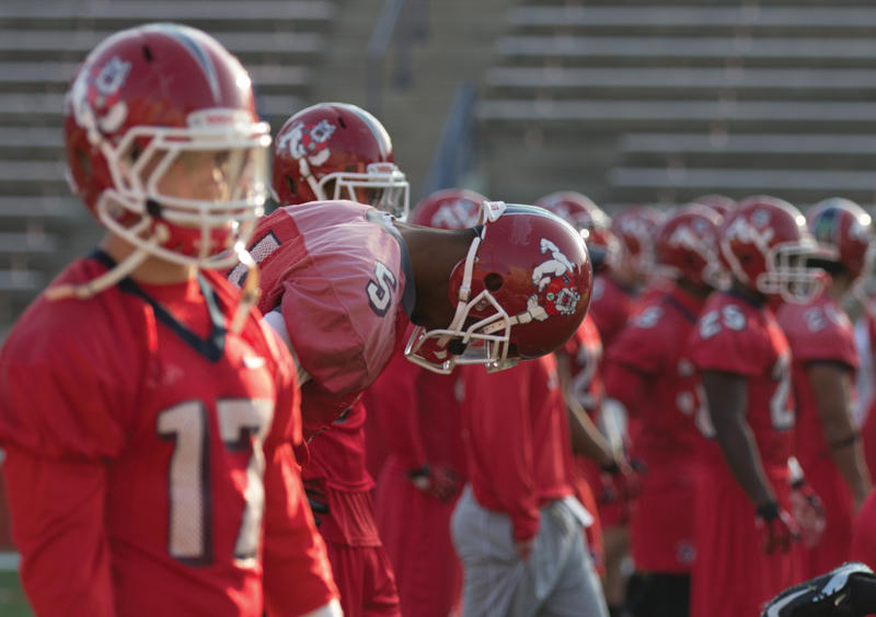 The Fresno State football team prepares for spring practice. Roe Borunda / The Collegian