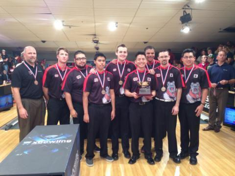 The Fresno State men's club bowling team finished their season on April 19 in third place in the Intercollegiate Team Championships in Lincoln, Neb. Photo courtesy of Fresno State Men's Club Bowling