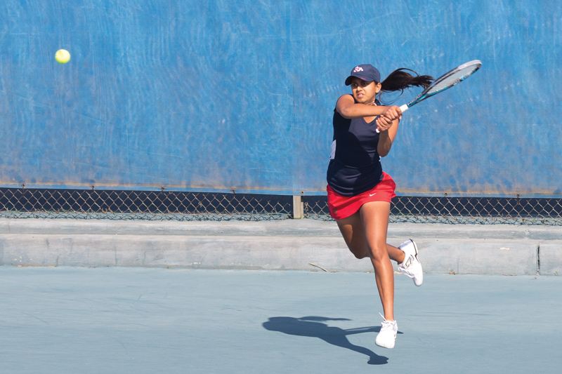 Aishwarya Agrawal and the Fresno State women's tennis team enters this weekend's Mountain West Tournament as the third seed. Roe Borunda / The Collegian