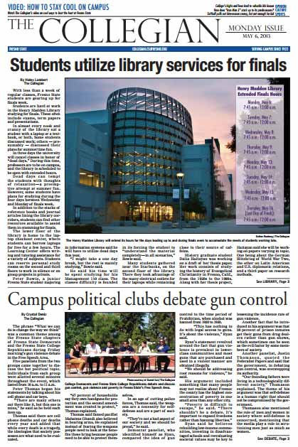 Collegian May 6, 2013