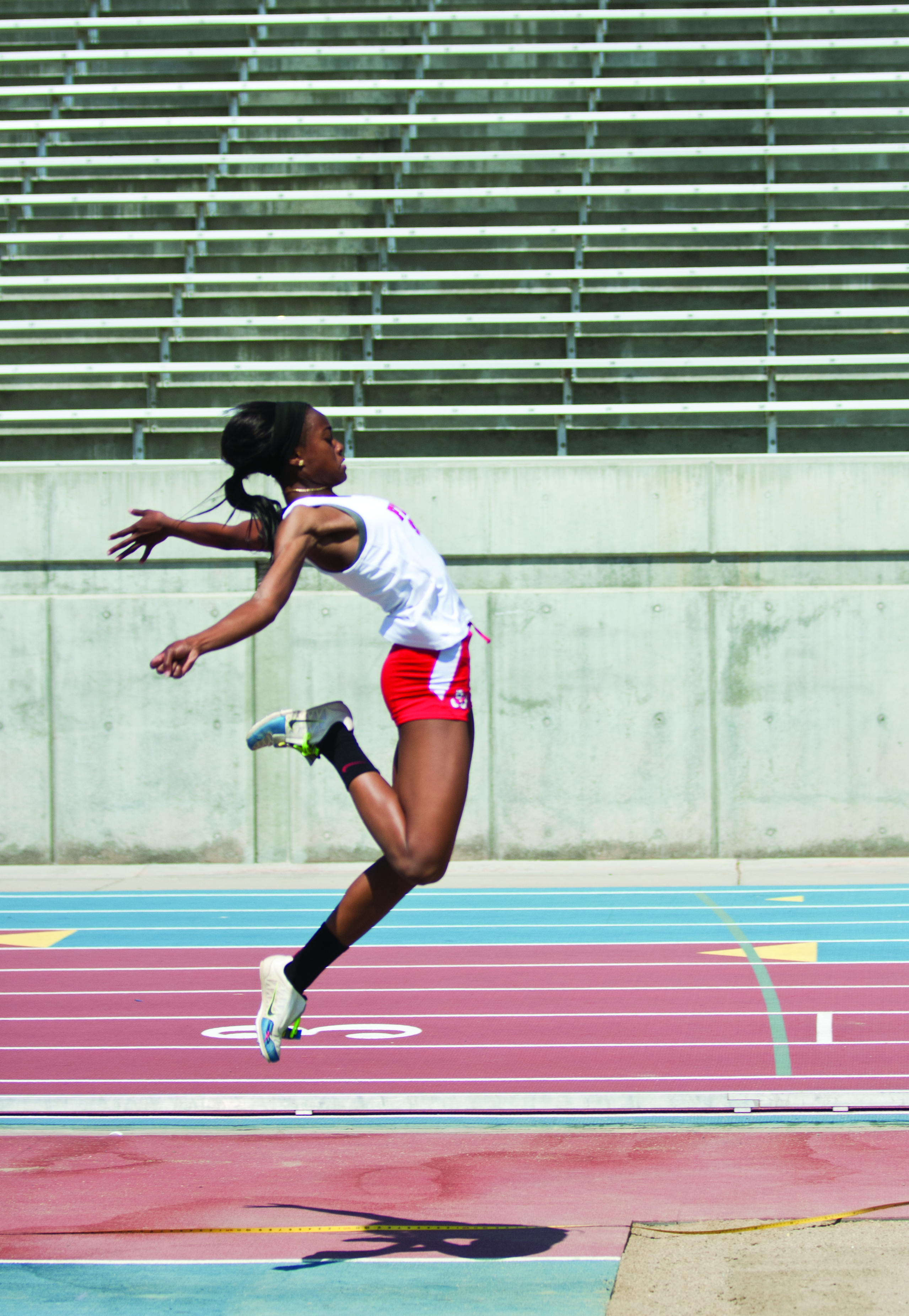 Je'Nia Sears and the Fresno State track and field team prepare for their first-ever Mountain West Conference Outdoor Championships this weekend. Khlarissa Agee / The Collegian
