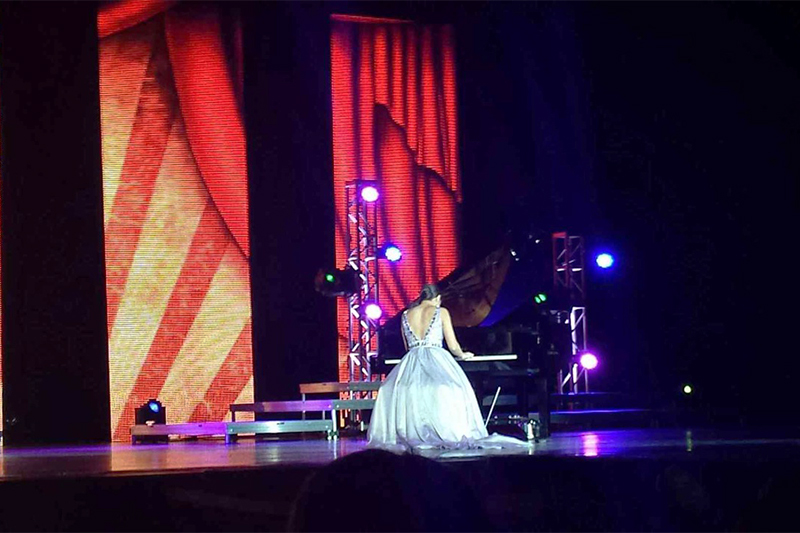 Talent at each pageant mikaela harris played quot seasons quot on the piano