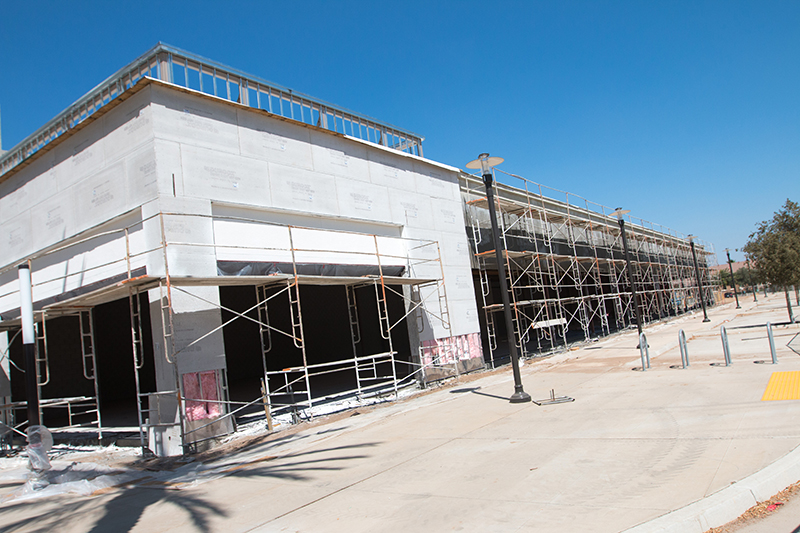 "The retail phase of ""The Square at Campus Pointe,"" located off Chestnut Avenue between Palazzo student housing and the Save Mart Center, is expected to be completed next spring."