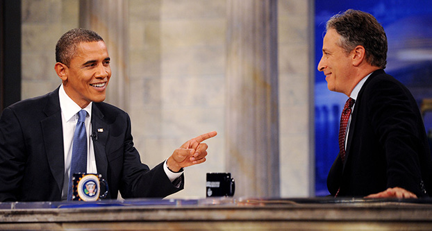 President Barack Obama, Jon Stewart, October 2010 Washington, D.C. (PictureGroup)
