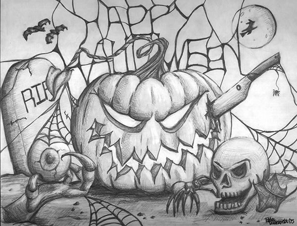 Halloween Drawing Images | Empowermephoto