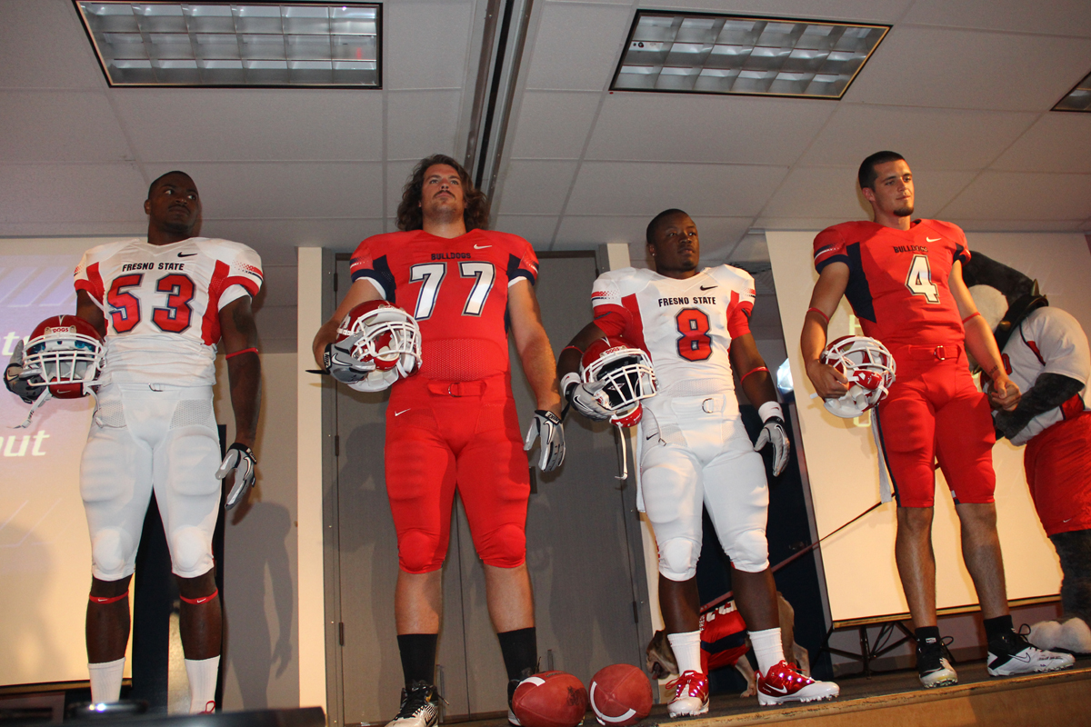 low cost c0f31 e4682 Bulldogs debut new football uniforms [video] - The Collegian