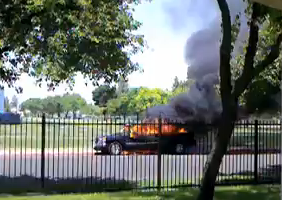 Truck catches fire near campus  article thumbnail mt-3