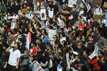 Students and faculty unite for education rally article thumbnail mt-3