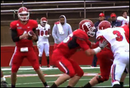 Spring football scrimmage game [video] article thumbnail mt-3