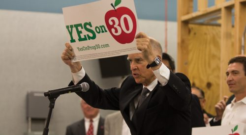Gov. Brown rallies for 30 article thumbnail mt-3