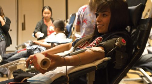 Blood drive kicks off in Resident Dining Hall article thumbnail mt-3