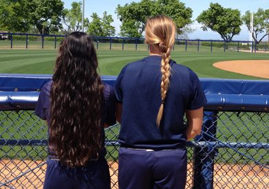 Softball: Players to donate hair to children in need article thumbnail mt-3