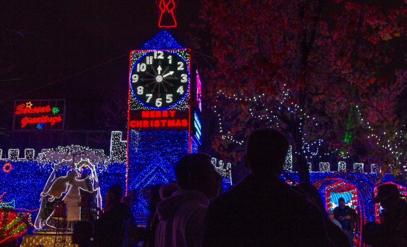 Catch a shuttle to Christmas Tree Lane