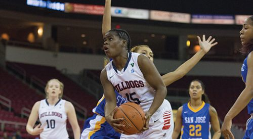 Women's Basketball: Dominant 'Dogs drive to victory article thumbnail mt-3