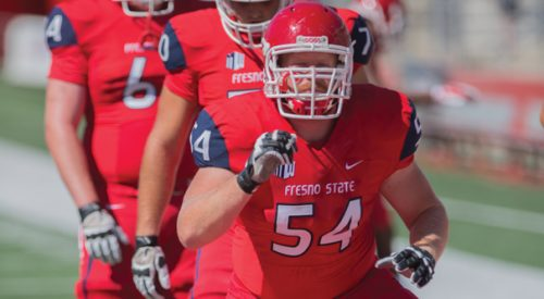 Football: Trio of senior linemen paving way for 'Dogs offense article thumbnail mt-3