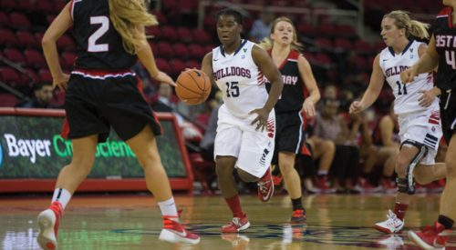 Women's Basketball: 'Dogs come out with win in exhibition with Cal State East Bay article thumbnail mt-3
