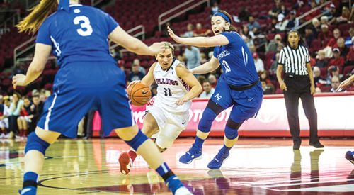 Women's Basketball: 'Dogs ground winless Air Force to capture seventh-straight win article thumbnail mt-3
