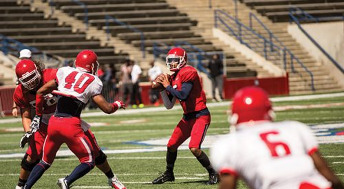 Virgil 'a step ahead of everyone else' for starting QB job as spring ball comes to an end article thumbnail mt-3