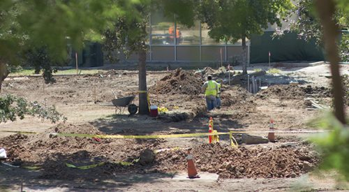 Construction work on campus is ongoing, quad work began right before fall term article thumbnail mt-3