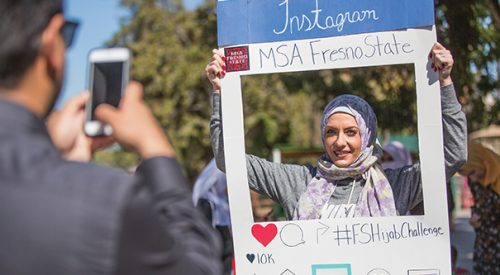 Muslim Student Association hosts the first Fresno State Hijab Challenge article thumbnail mt-3
