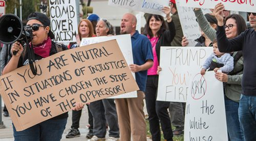 A march to fight against racism and the 'downhill slide' for America article thumbnail mt-3