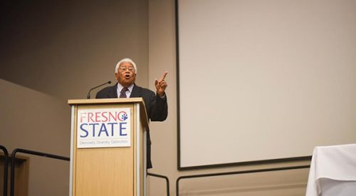 Civil Rights pioneer visits Fresno State article thumbnail mt-3
