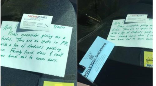 This Fresno State employee asked parking police not to ticket her. They did anyway. article thumbnail mt-3