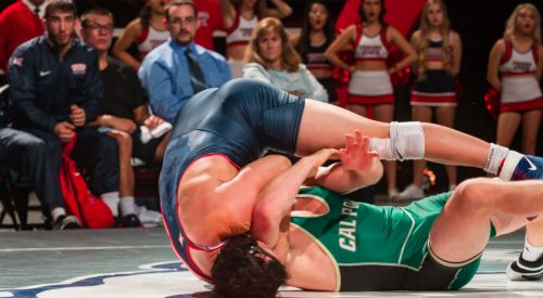 'Dogs wrestling team just got their first home win of the season article thumbnail mt-3