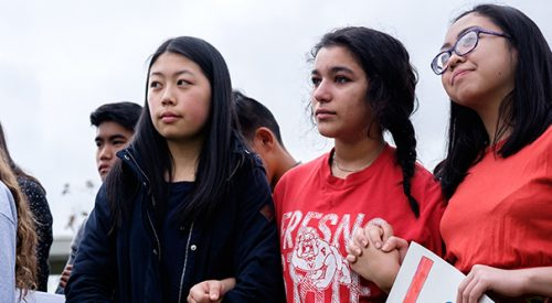 University High students walk out to protest gun violence article thumbnail mt-3