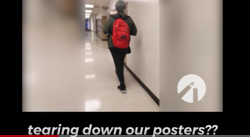 Video shows student taking down anti-abortion posters article thumbnail mt-3