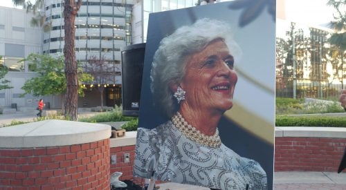 College Republicans hold vigil for Barbara Bush at Fresno State article thumbnail mt-3