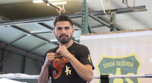 Jose Ramirez warms up before Saturday match. But his opponent won't be there? article thumbnail mt-3