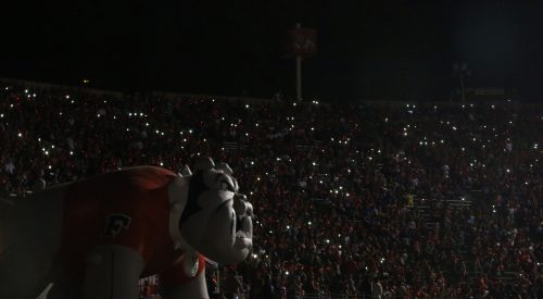 Tripped circuit breaker cause of light outage at Bulldog Stadium article thumbnail mt-3