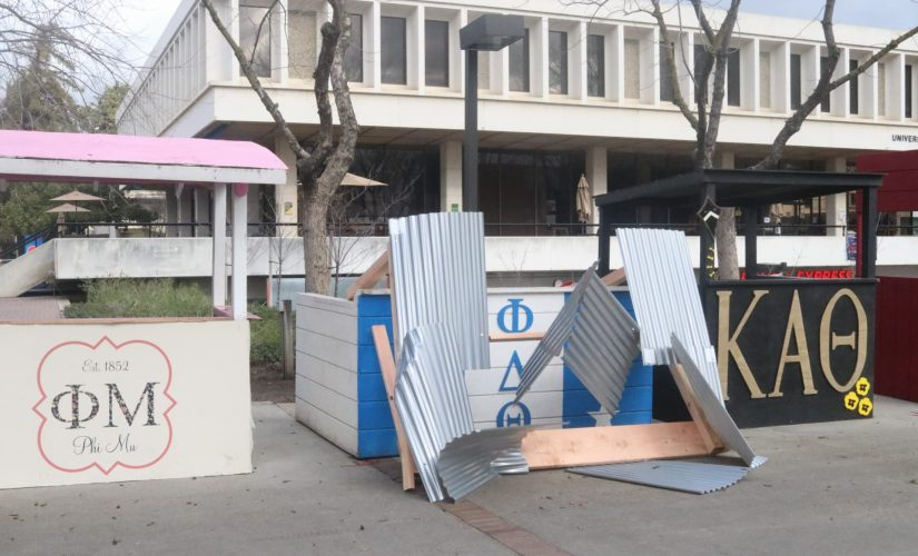 Storm causes damage to student organization booths on campus article thumbnail