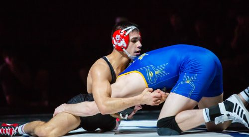 3 Bulldog wrestler garnered with Big 12 honors article thumbnail mt-3