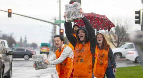 Bulldogs among 8,000 volunteers who distributed the Kids Day paper article thumbnail mt-3