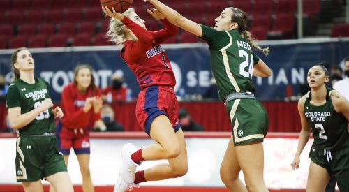 Women's basketball split the first Mountain West series with a win article thumbnail mt-2